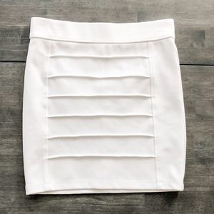 White Striped Charlotte Russe Stretch Skirt